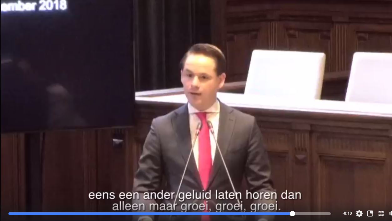 René Segers CDA dient initiatiefnota in Stop Groei Rotterdam The Hague Airport